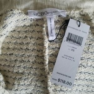 BCBGeneration Sweaters - BCBGeneration Long Open Front Cream Cardigan